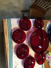 ANCHOR HOCKING Vintage RUBY RED GLASS 8.5