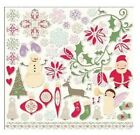 Cosmo Cricket 12x12 Adhesive Chipboard MITTEN WEATHER Christmas Scrapbook