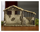 Stable Christmas Nativity Scene Three Kings Gifts Lighted Stable 15 Xmas Decor