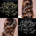 Bride Wedding Crystal Crown Floral Hairpin Hair Accessories Girls Women Party