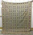 Antique COVERLET ~ HAND MADE ~ Museum Quality Stitching ~ 75