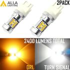Alla 3457NA White Parking Light Bulb|DRL|Yellow Turn Signal|Sidemarker Bi-Color