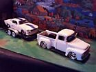 124 Scale Diecast3 piece Set White1956 Ford Pickup1967 Mustang GT