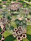 Set of 7 Vintage Saint ST Gobain French Art Glass Bowls Daisy Design