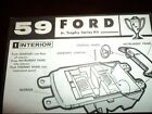 ORIGINAL AMT 1959 FORD GALAXIE JR TROPHY SERIES KIT INSTRUCTION SHEET ONLY