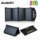 Suaoki 25W Foldable 2 Port Solar Charger Power Battery w TIR C for iPhone iPad