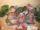 Set of 3 handmade patchwork fabric Country rabbits bowl fillers Home Decor
