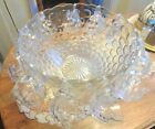 Complete 27 Pc.Vtg. Federal Glass Lovely Pedestal Style 'Jubilee' Punch Bowl Set