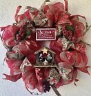 Jesus Is The Reason For The Season Christmas Wreath With Nativity Scene
