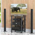 Media Stand Entertainment Center 4 Tier AV plasma audio cabinet with Glass Shelf