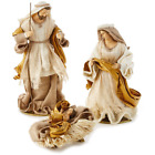 Fabric Holy Family Nativity Set 3 Pieces NEW DEAL FS