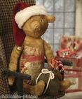 Bethany Lowe*Santa Claus Toy Shop Christmas TEDDY BEAR*Red Hat*Candy Canes*New!