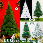 US 45678FT GREEN WHITE Traditional Indoor Artificial Christmas Xmas Tree