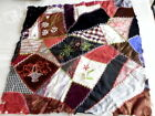Victorian Hand Sewn Crazy Quilt Panel For Repair