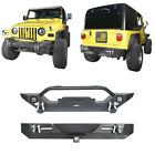 Textured Steel Front Bumper Rear Bumper Off road Fit Jeep Wrangler TJ 97 06