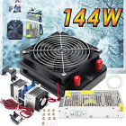 Dual Chip Thermoelectric Cooler Peltier Refrigeration Cooling System+Pump+Pipe