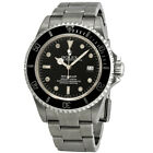 Pre-owned Rolex Sea Dweller Black Dial Stainless Steel PRE-RLX16600BSO