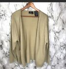 Vintage Kathie Lee Women's Gold Cardigan Holiday Formal Christmas Sweater 18W
