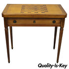 Rosewood Flip Top Card Game Chess Table French Louis XVI