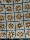 VINTAGE MARINERS COMPASS/DRESDEN PLATE QUILT~TIGHT QUILTING MINT~1920'S