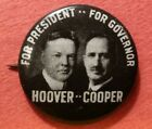 1928 Herbert Hoover & Myers Young Cooper (51st Gov of Ohio Jugate Political Pin
