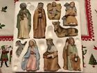 Vintage HOMCO Home Interiors 9 Piece Porcelain Christmas Nativity Set