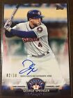 2018 Topps Update GEORGE SPRINGER Salute Autograph RED 10 Parallel SA-GS Astros!