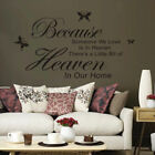 Because Someone We Love Is In Heaven Sayings Words Wall Stickers Luxury