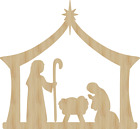 Nativity Laser Cut Out Wood Shape Craft Supply Unfinished Wood cutout Baby Jesus