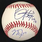 BRYCE HARPER + MIKE TROUT Autograph Signed Baseball JSA + MLB Holo Hologram