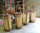 4 Vintage Gothic Large Church Ceiling Hanging Lights 50 Steel Heavy VFX