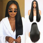 Heat Resistant Synthetic Lace Front Wigs Long Straight Black Color Women Natural