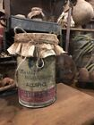Primitive Grubby Grungy Pantry Can Allspice Farmhouse Early Look Rusty