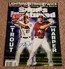 Mike Trout & Bryce Harper Dual Signed Sports Illustrated For Kids 11×14 Print