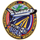 NASA Atlantis Shuttle Mission STS106 Astronauts Space Patch