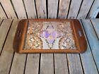Antique Serving Tray, Butterfly Design Serving Tray