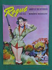 Vintage ROGUE FOR MEN Dec 1957 BENTLEY Cover ROBERT BLOCH Roberto Rossellini