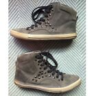 Steven By Steve Madden Trksuit Gray Leather Studded High Top Sneakers Size 9