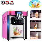 3 flavors Desktop small automatic drum Soft ice cream making machine Commercial