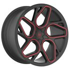 4 GWG BREMEN 20 inch Satin Black Red Mill Rims fits CADILLAC STS AWD 2006 2011