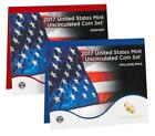 2017 Uncirculated coin Mint set In original brown box from the mint
