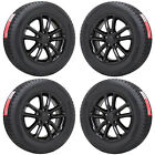 17 DODGE GRAND CARAVAN BLACK WHEELS RIMS TIRES FACTORY OEM SET 4 2399