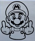 Color Size Choice Nintendo Middle Finger Mario Vinyl Decal Sticker Car Window