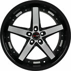 4 GWG Wheels 18 inch Black Machined DRIFT Rims fits HYUNDAI TIBURON 2003 2008