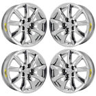 18 LEXUS LS460 PVD CHROME WHEELS RIMS FACTORY OEM SET 74195 EXCHANGE
