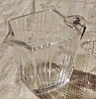 VINTAGE MID-20th CENTURY ANCHOR HOCKING CRYSTAL CLEAR SMALL GLASS PITCHER
