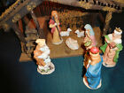 10pc Nativity Set w 65 Figures Lighted Manger Stable w Music Box Baby Jesus