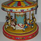 1950S CHEIN PLAYLAND MERRY GO ROUND CAROUSEL TIN WIND UP TOY