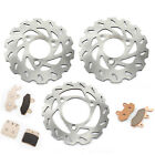 Front Rear Brake Rotors Discs Pads For Suzuki LT-R 450 Quadracer Limited Edition