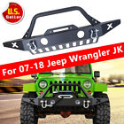 For Jeep Wrangler JK Front Bumper Skid Plate Fog Light HoleWinch Plate 07 18 A